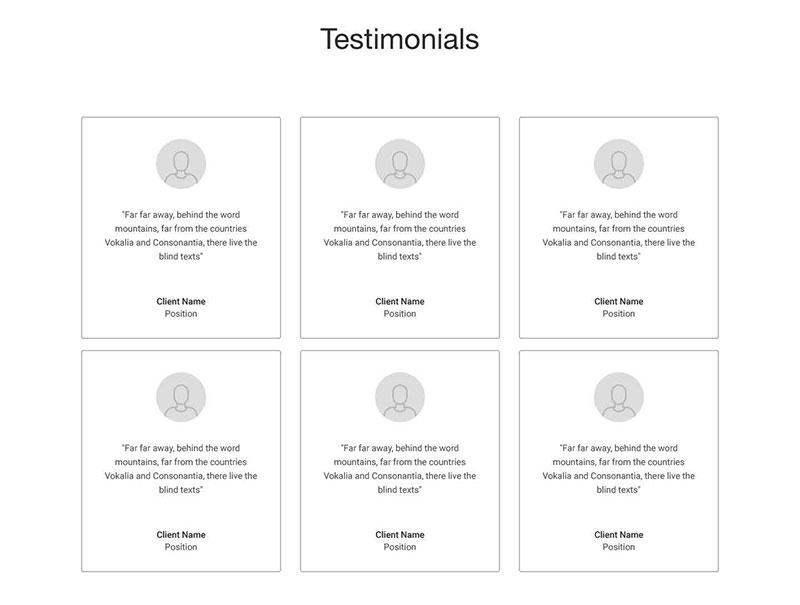 Digux Wireframes - Testimonials